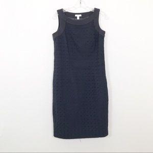 Charter Club Black Eyelet Sleeveless Dress Size 6